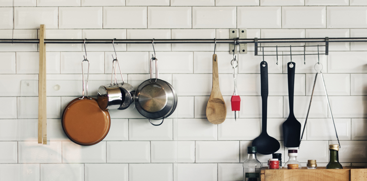 Store Pan Lids With A Curtain Rod