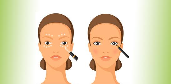 Apply Eye Shadow, Kajal, Eyeliner, And Mascara