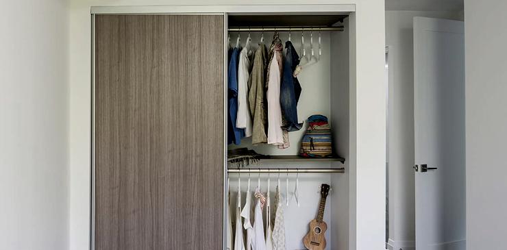 Install Sliding Doors To The Closet
