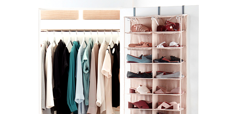 Use Zip Pouches To Keep Shoes In The Closet