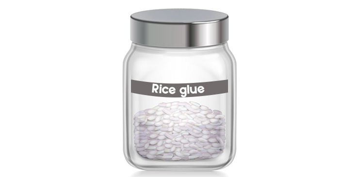 Use Cooked Rice As Glue