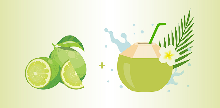Coconut Juice And Lime Juice