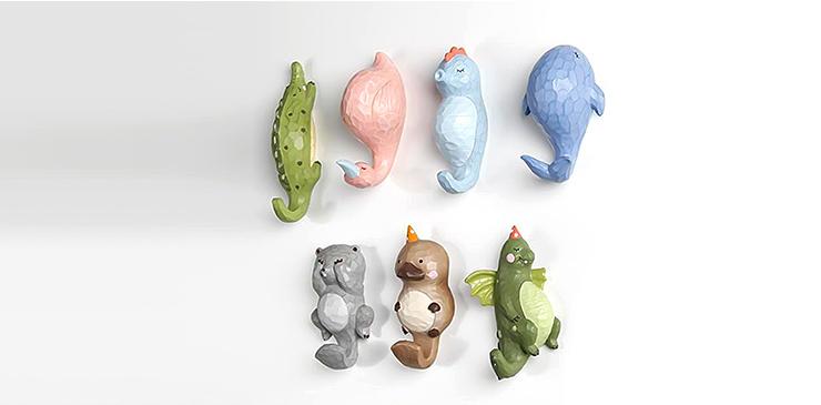 Plastic Toy Animal Wall Hooks